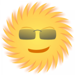 Cartoon of Sun-with-glasses