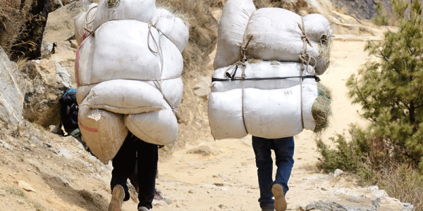 hikers with heavy packs