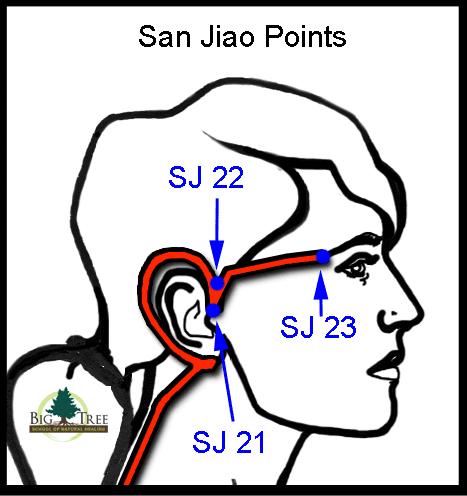 San Jiao acupressure points