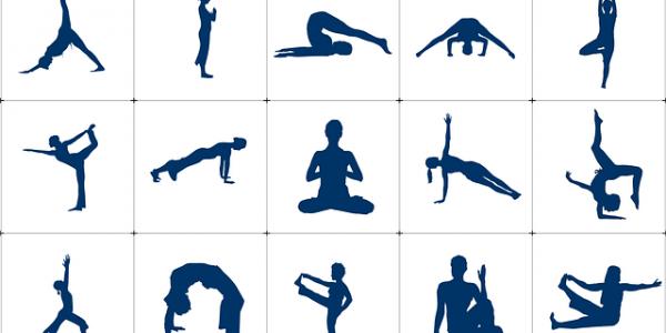 A few asanas (postures) of Yoga