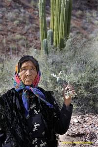 Doña Ramona, a Seri shaman from Punta Chueca, Sonora, Mexico. photo by Tomás Castelazo