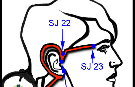 San Jiao acupressure points for Trigeminal Neuralgia