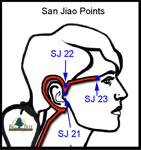 San Jiao acupressure points