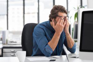 Eye strain at the computer