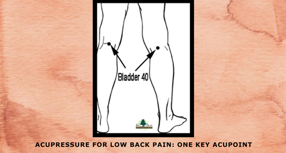 Acupressure for low back pain