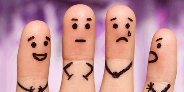 Emotions on fingers